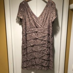 Dress barn collection sequin evening dress size 18